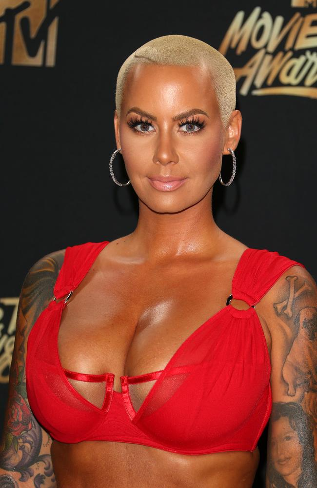 Amber Rose was red hot.