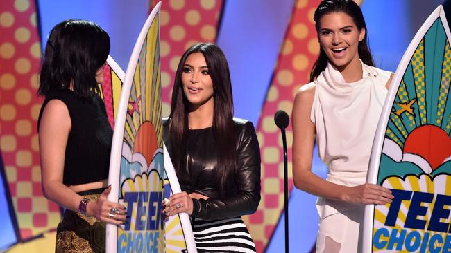 Kylie, Kim and Kendall. Photo: Kevin Winter/Getty Images)