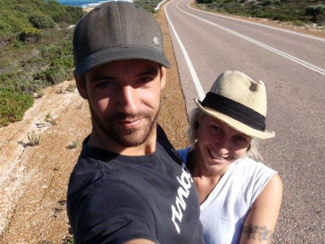 Adam Haling and his girlfriend Sonia Harvey. 'She couldn't say anything for 20 seconds'. Picture: Courtesy Adam Haling.