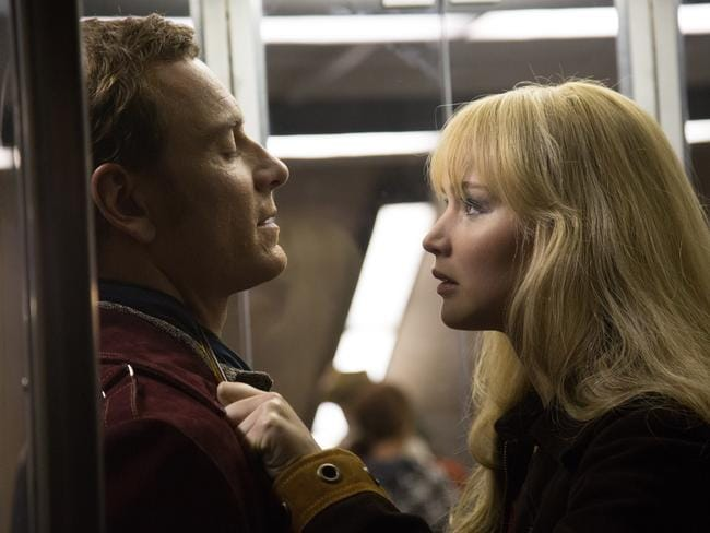 Hollywood's sweetheart ... Jennifer Lawrence takes on Michael Fassbender in a scene from X-Men: Days of Future Past. Picture: Fox
