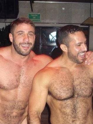 Maths professor Ruggero Freddi and boyfriend Gustavo Alejandro Leguizamon. Picture: Supplied