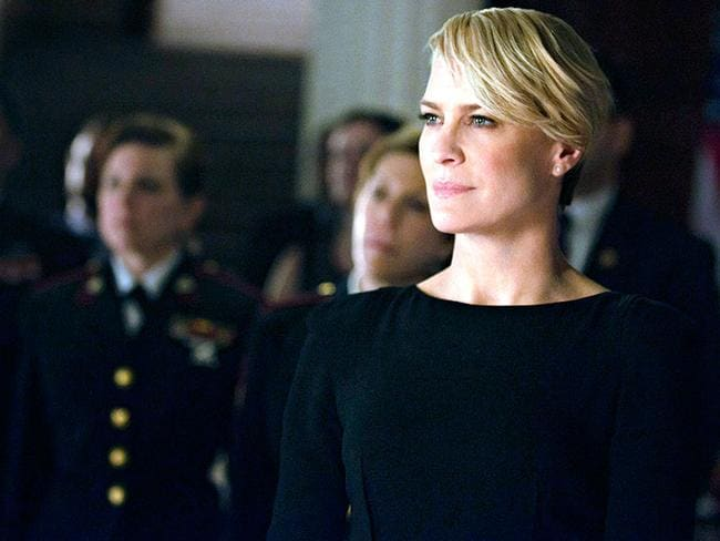 Retribution ... Robin Wright as Claire Underwood in House of Cards. Picture: Supplied
