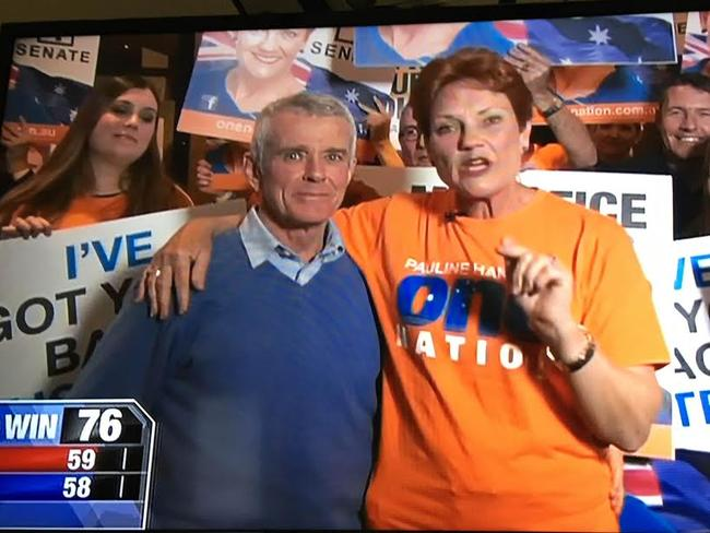 Pauline Hanson and her running mate Malcolm Roberts.