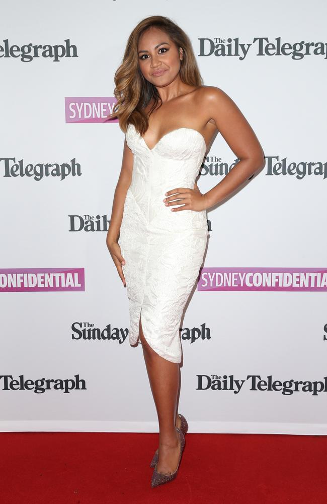 Jessica Mauboy looked stunning in this fun, flirty Steven Khalil cocktail dress.