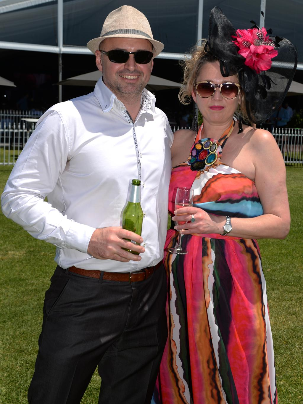 The 2016 Melbourne Cup at Ascot Racecourse, Perth. Shaun and Angelique Quinlin. Picture: Justin Benson-Cooper