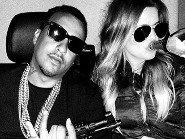 Dumb and dumber... French Montana and Khloe Kardashian trying to look gangsta. Picture: Khloe Kardashian/Instagram