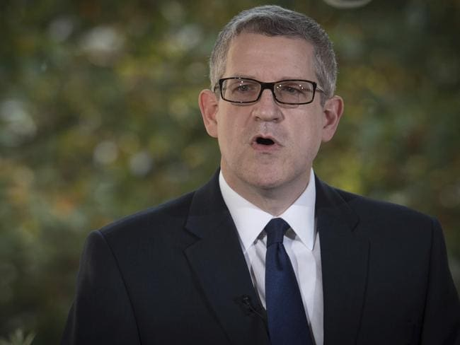 Director General of MI5 Andrew Parker said the UK was facing the worst terrorist threat he's seen his 34-year career. Picture: Stefan Rousseau/PA via AP