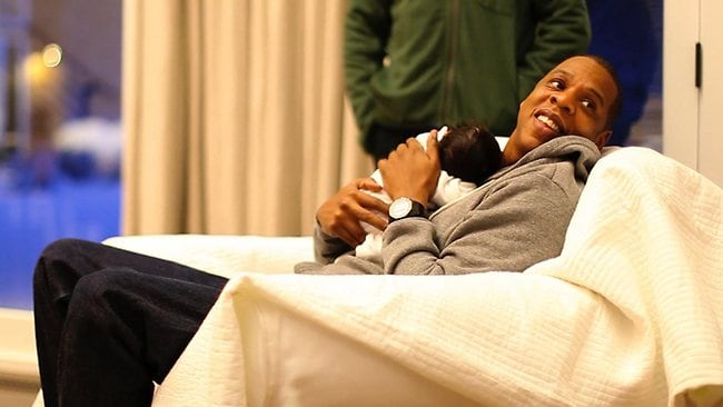 Jay Z with daughter Blue Ivy Carter