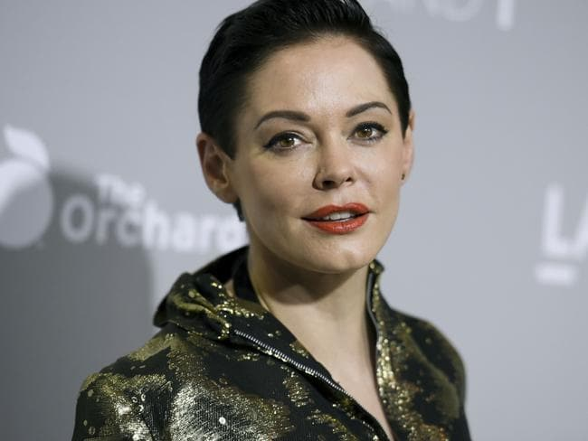 Rose McGowan emerged from a brief suspension on Twitter on Thursday to offer her most pointed accusation that she was sexually abused by film mogul Harvey Weinstein. Weinstein's representative says the producer denies he engaged in 'any non-consensual contact'. Picture: Richard Shotwell/Invision/AP