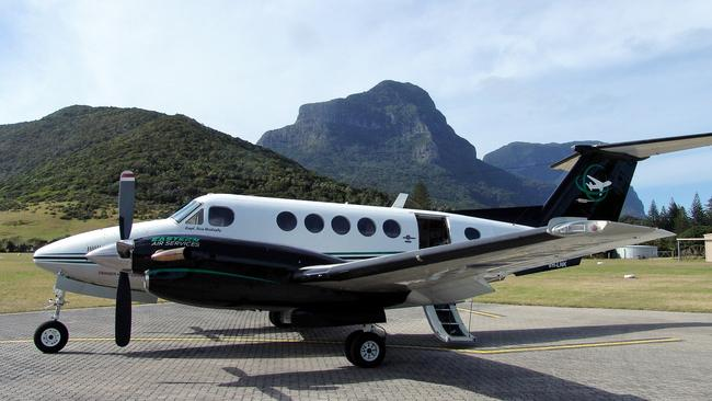The twin-turboprop King Air 200 before it was damaged.