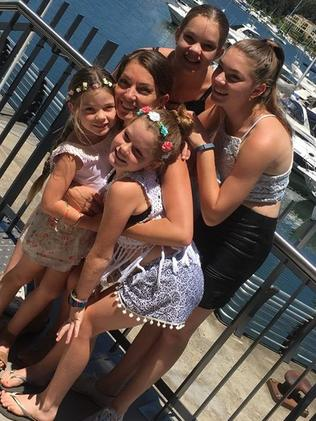 Sharnie Kimmorley pictured with her daughters. Picture: Facebook