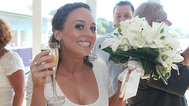 Stacey had a big smile after her wedding re-run at Mosman's