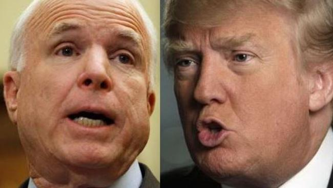 John McCain has told Donald Trump that he won't vote for the plan to repeal and replace Obamacare. Picture: Supplied