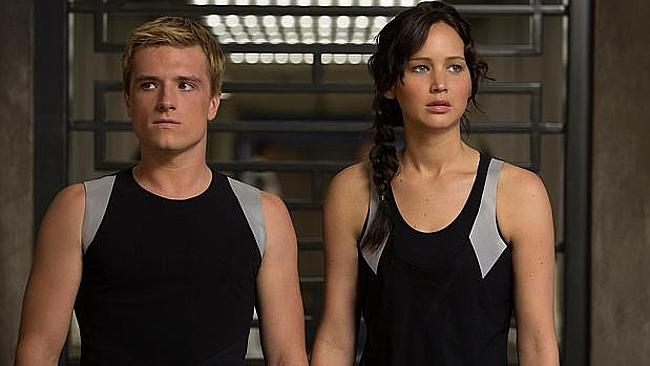 Josh Hutcherson and Jennifer Lawrence in a scene from The Hunger Games: Catching Fire.