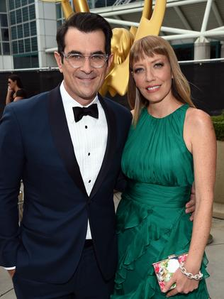 Modern Family actor Ty Burrell (L) and Holly Anne Brown. Getty Images