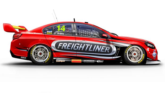Tim Slade's No. 14 Freightliner Holden Commodore.