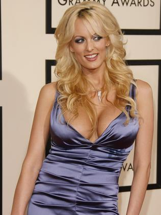 Stormy Daniels claimed she had an affair with Donald Trump soon after his wife Melania gave birth to their son Baron, 12. Picture: Dan MacMedan/WireImage