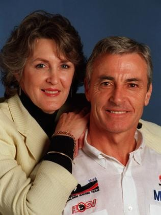 Peter Brock with his wife Beverley in 1997.