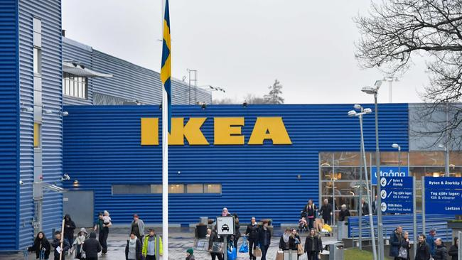 A Swedish flag flies at half mast following Ingvar Kamprad's death. Picture: AFP Photo/TT News Agency/Anders Wiklund