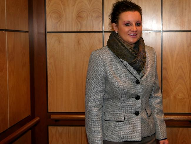 Palmer United Party Senator Jacqui Lambie this morning. Picture: News Corp Australia