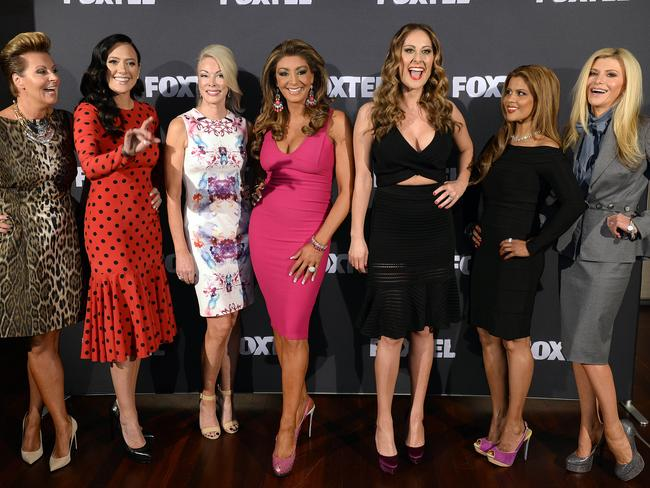 The Housewives cast with new additions Pettifleur Berenger and Gamble Breaux at right. Picture: Martin Philbey.