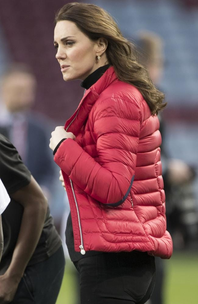 The Duchess kept warm with a cosy jacket. Picture: i-images/Media Mode