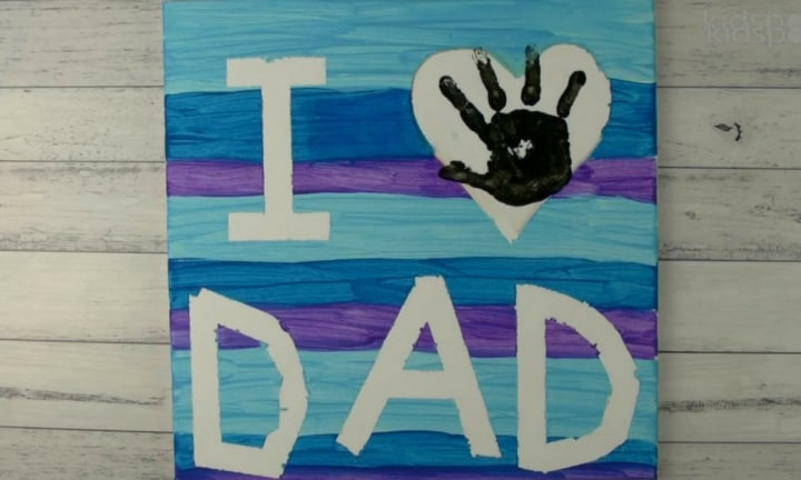 How to make a Father's Day painting