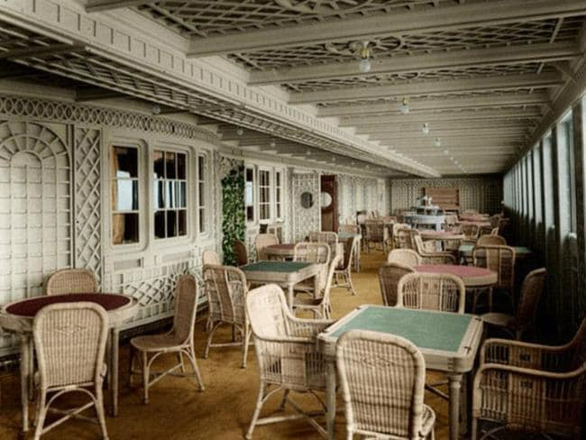 Inside the Titanic. Picture: Anton Logvynenko/Titanic-in-colour.com