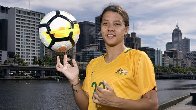 Matildas star Sam Kerr has been traded to Chicago Red Stars. Picture: Michael Klein