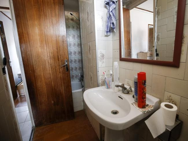 Imam Abdelbaki Es Satty's flat that was searched by police. This is the bathroom. Picture: AFP