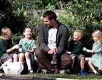 <p>Little friends ... filming a segment with kids from Sydney's Narrabeen Public School for his tv series <em>Action Earth</em> / Toby Zerna</p>