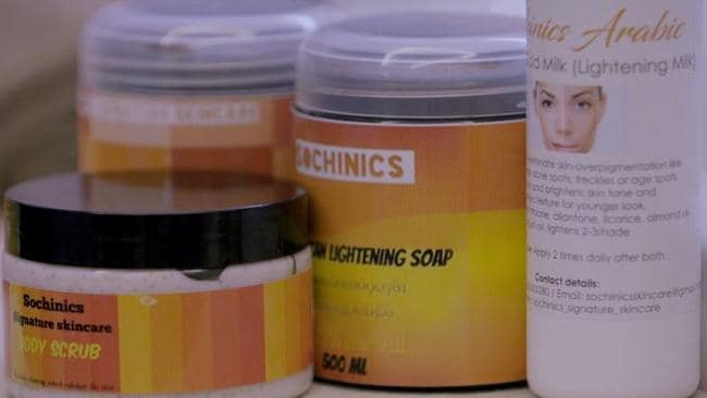 Some of the skin lightening products banned from South Africa