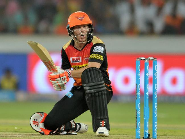 Warner's Sunrisers Hyderabad sealed victory with just two balls to spare.