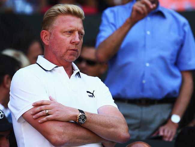 Novak Djokovic's coach, Boris Becker.