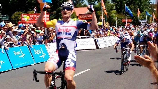 Andre Greipel's great start to the TDU was captured on camera by Twitter user @AnneFed yesterday.
