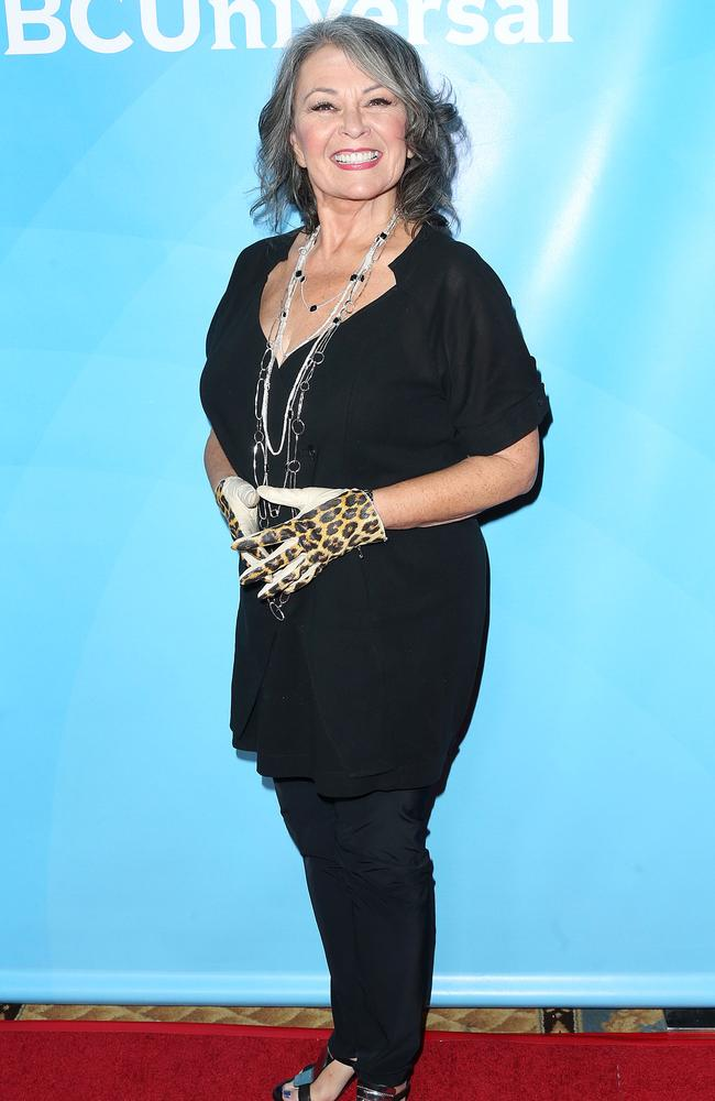 "Slimmed down ... Actress Roseanne Barr attends NBCUniversal's Summer Press Day at The Langham Huntington Hotel and Spa in April. Picture"" Getty"