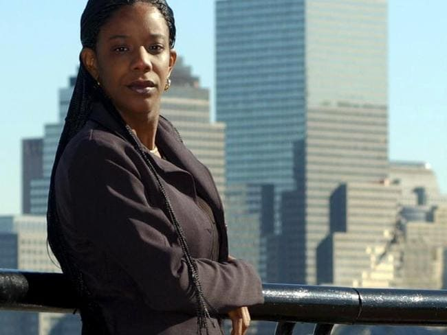 Marcy Borders at Liberty State Park, New Jersey on 29 Oct 2001.
