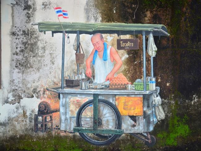 Mural, Phuket and Peranakan Food Trail Tour. Picture: Phuket Food Tours