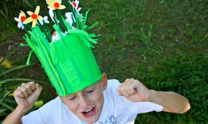 Make an Easter garden hat