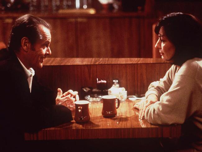 Jack Nicholson reunites with Anjelica Huston in film 'The Crossing Guard'.