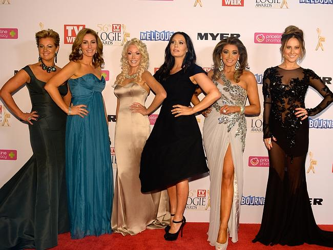 The Housewives hit the red carpet at Sunday's Logie Awards. Picture: Jason Edwards
