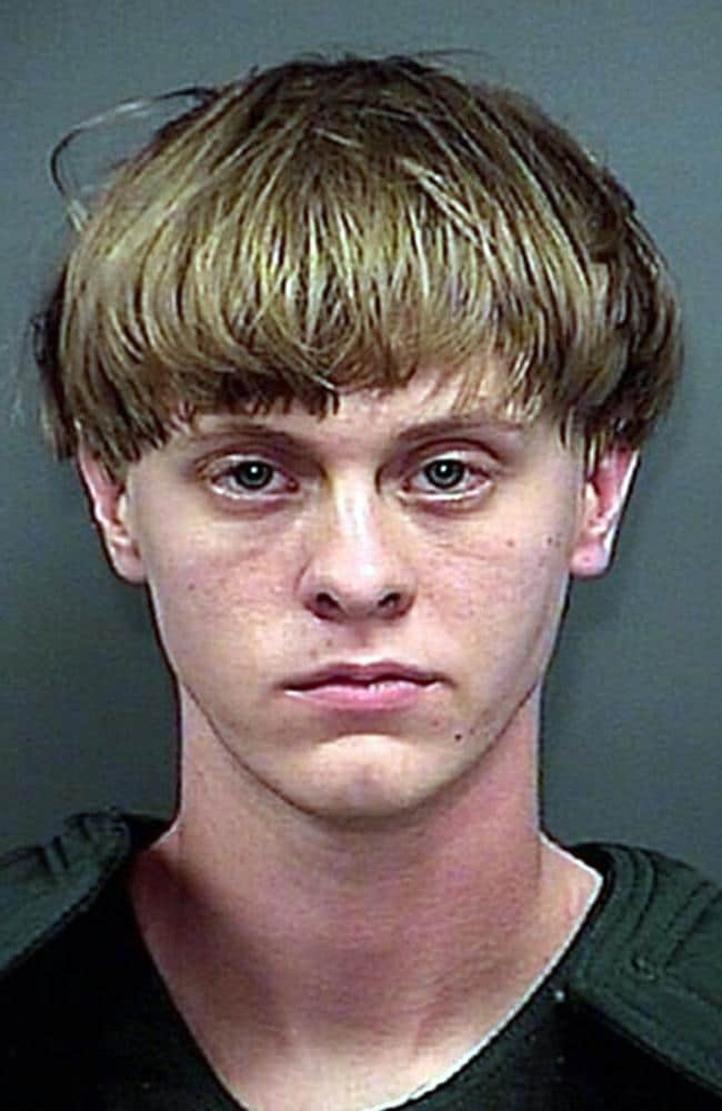 A Charleston County Sheriff booking photo of suspect Dylann Roof.