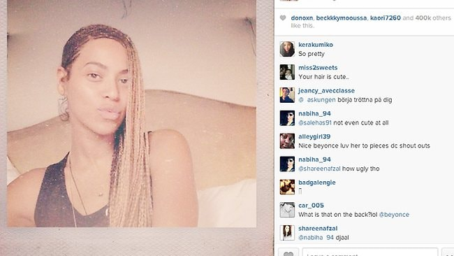 Beyonce's post on instagram.