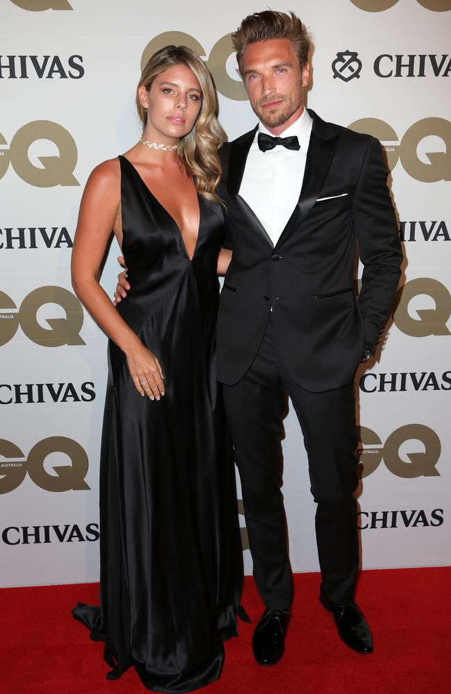 Natasha Oakley and her beau Gilles Souteyrand at the GQ Men of the Year Award
