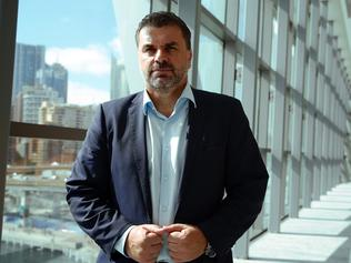Socceroos coach Ange Postecoglou poses for a photograph at the AAP Sports Editors Conference in Sydney, Wednesday, March 29, 2017. The conference brings together key sports leaders and media organisations. (AAP Image/Jane Dempster) NO ARCHIVING