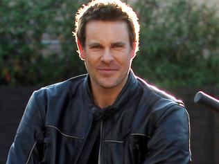 Sunday Telegraph. Aaron Jeffery who played Frank O'Rourke in Underbelly: Badness. Pictured at Ch 9 studios, Willoughby.