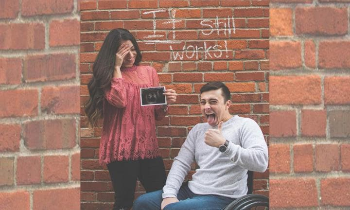 The moving story behind this hilarious viral pregnancy announcement
