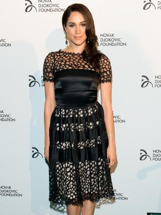 Meghan Markle attends the The 2013 Novak Djokovic Benefit Dinner in New York City. Picture: Noam Galai/FilmMagic