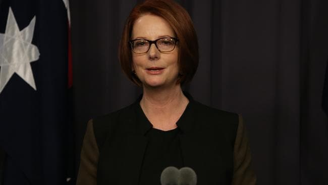 Julia Gillard talks about how proud she was to be the nation?s first female prime minister.