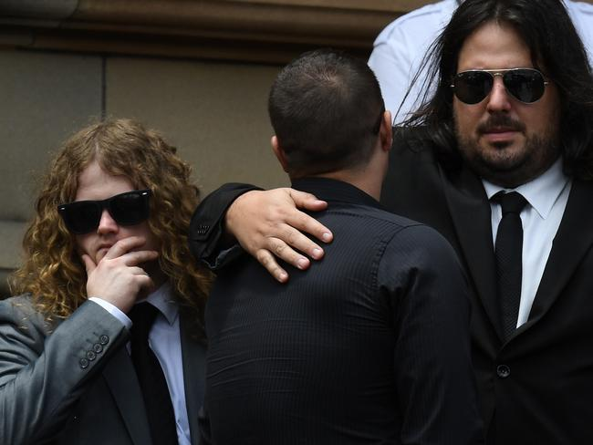 Family, friends and fellow musicians attended the funeral. Picture: AAP